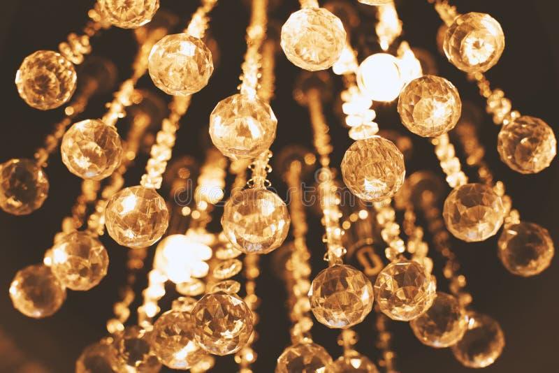 Lighting chandelier in dark background stock image