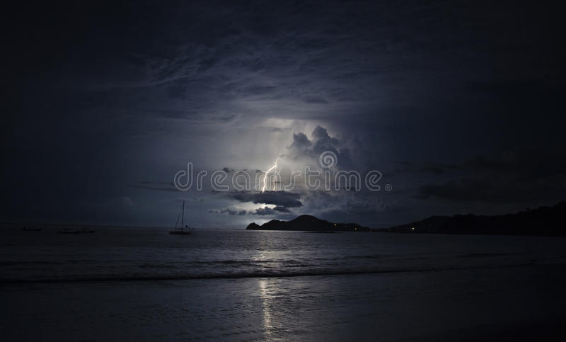 Download Lighting in the dark ocean stock photo. Image of ocean - 27964256