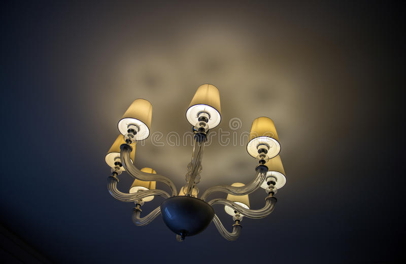 Lighting Decor, Close up. Close-up of a chandelier royalty free stock images