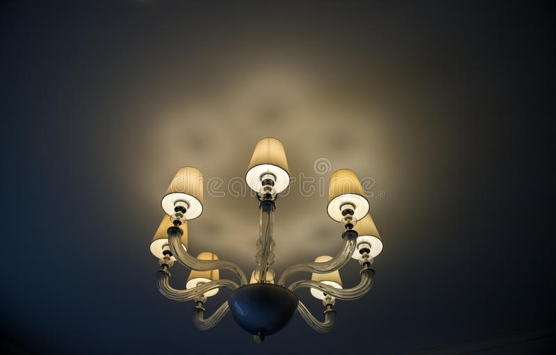 Lighting Decor, Close up. Close-up of a chandelier stock photography
