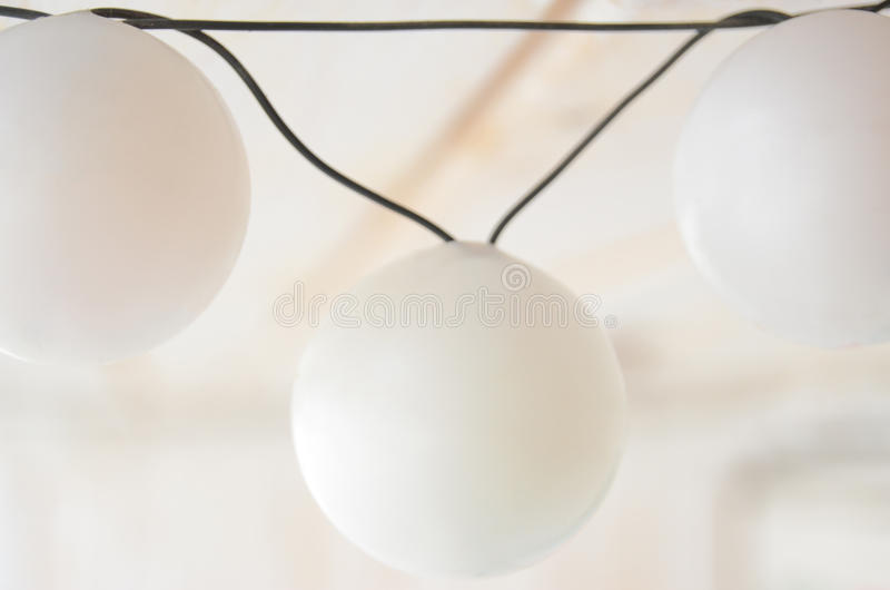 Lighting Detail. Of a small entertainment venue stock image