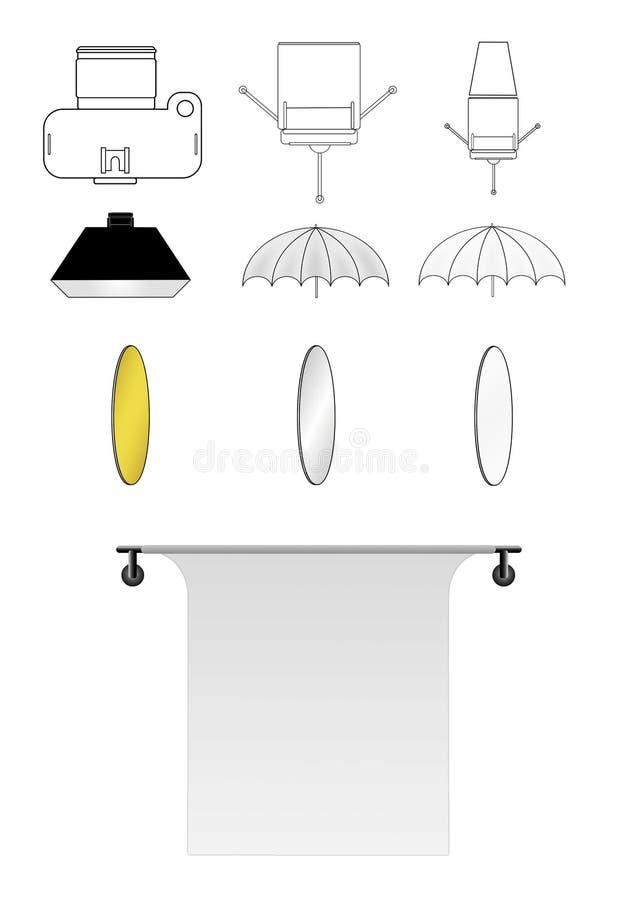 Lighting diagram icons stock illustration Illustration of diagram