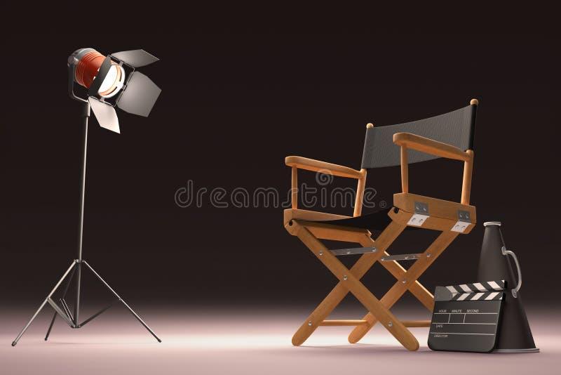 Lighting The Director royalty free illustration