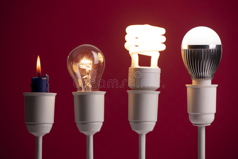 Lighting evolution royalty free stock images