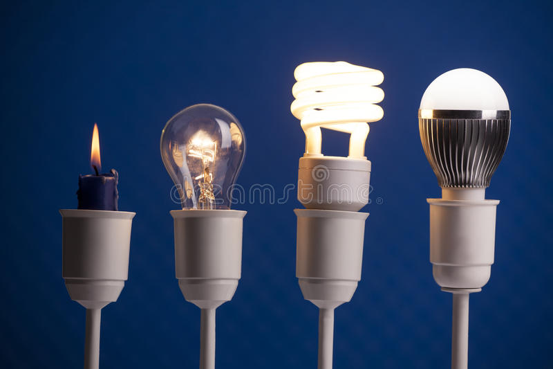 Lighting evolution stock photography