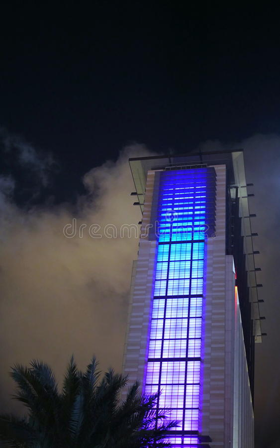 Lighting Fade. Shading of light at a hotel`s windows. That`s look beautiful royalty free stock photography
