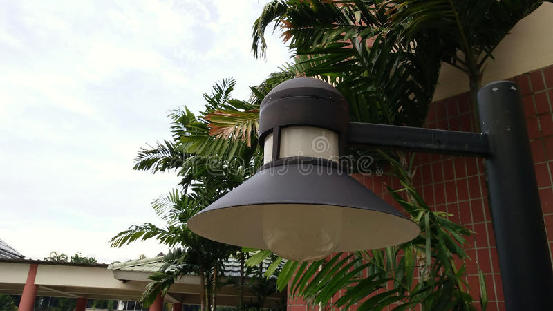 Lighting in the garden,Light spheres in the park,lighting have t royalty free stock photography
