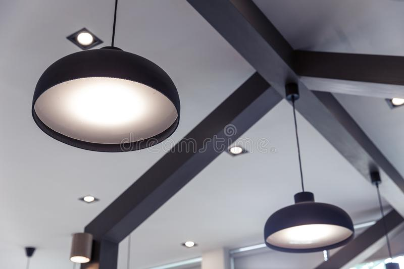 lighting interior design modern home decoration style royalty free stock photography