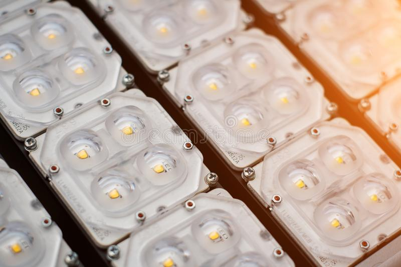 Lighting LED panel selective focus royalty free stock photo