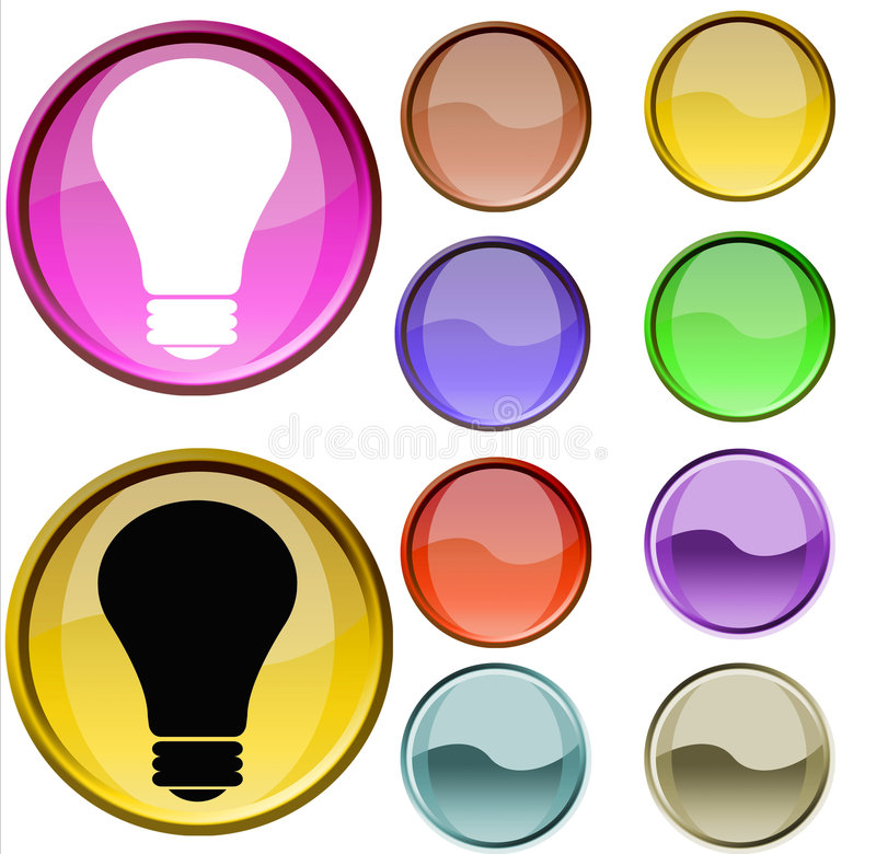 Download Lighting Mark stock illustration. Image of button, crystal - 7322408