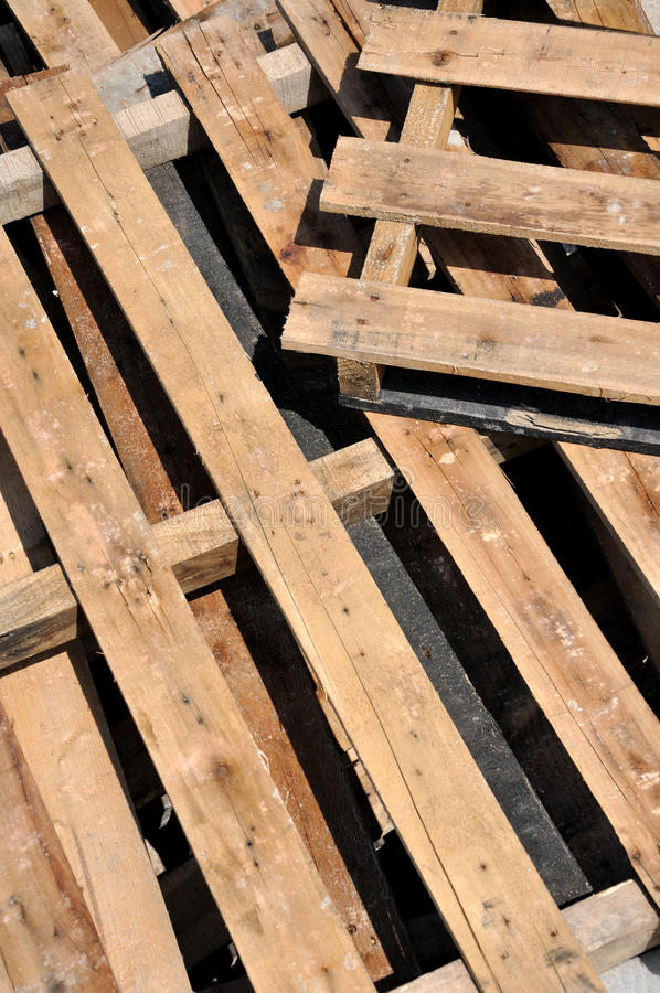 Lighting and shadow of wooden pallet. Under sunshine, as featured color, shadow and pattern, interlaced line and block, and repeated geometric image, or royalty free stock photos