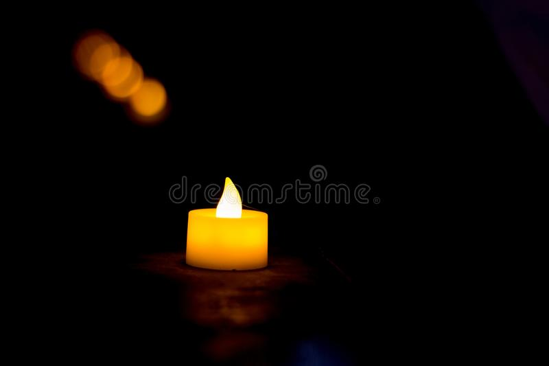 Lighting from a small lamp, Background,. Eidul fitri concept stock image