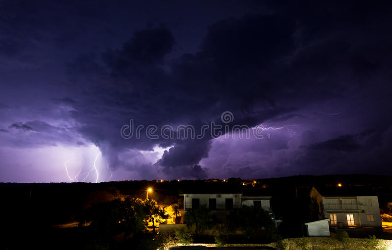 Download Lighting storm stock photo. Image of electricity, cloud - 28452082