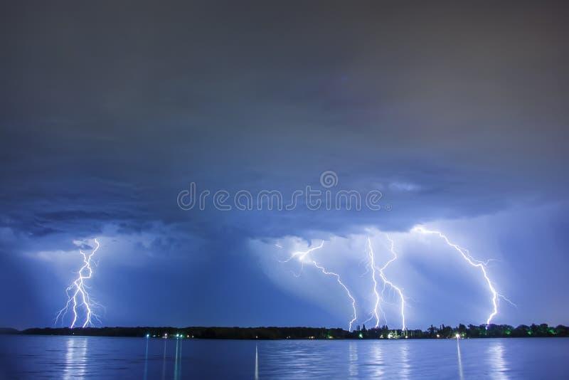 Lighting thunder bolt royalty free stock photography