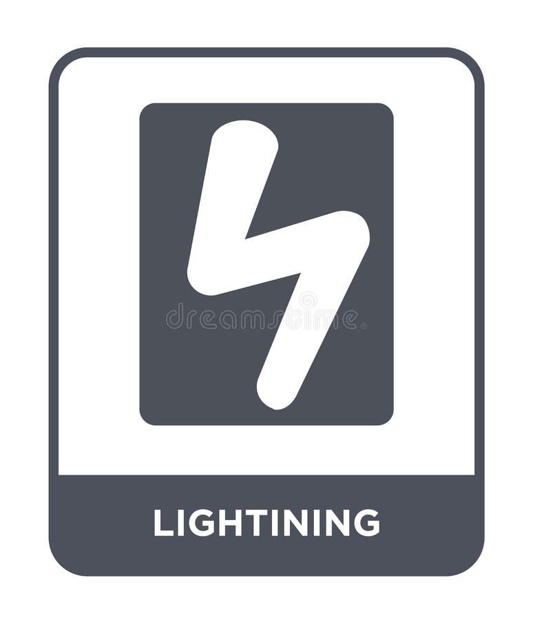 lightining pictogram in in ontwerpstijl lightining die pictogram op witte achtergrond wordt geïsoleerd lightining vector eenvoudi vector illustratie