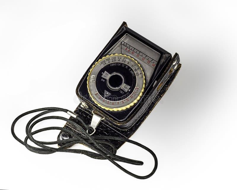 Lightmeter do vintage imagens de stock