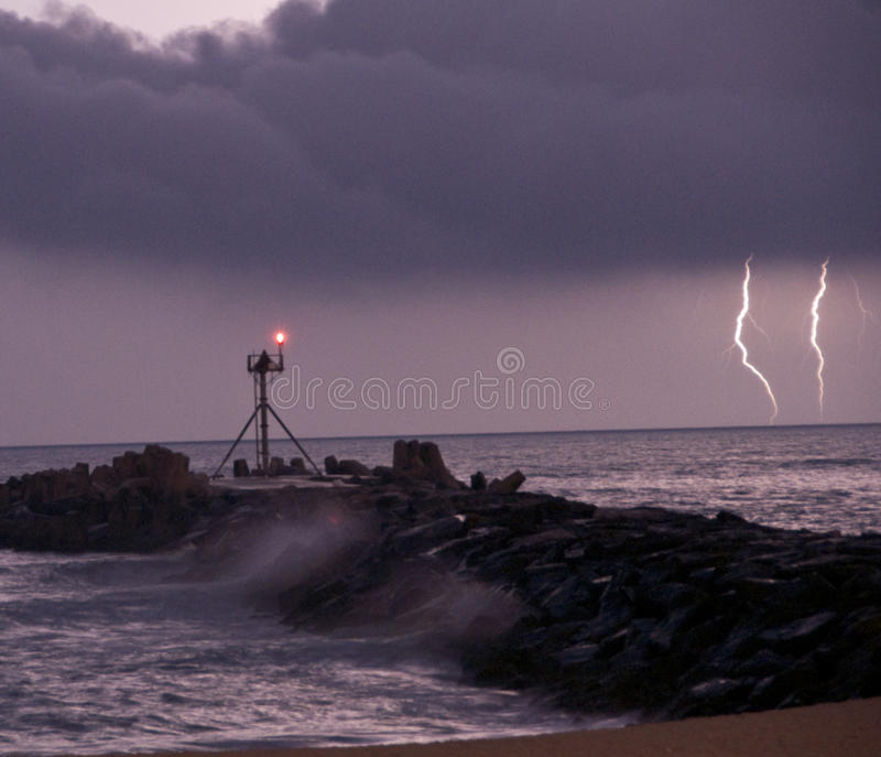 Download Lightning stock image. Image of atlantic, power, jetty - 11375851