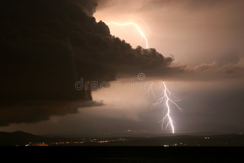 Download Lightning stock image. Image of cloud, powerful, light - 1142769