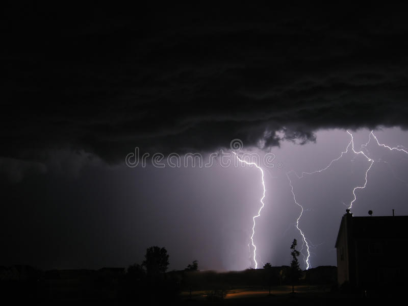 Download Lightning stock photo. Image of electricity, flash, evening - 12704260