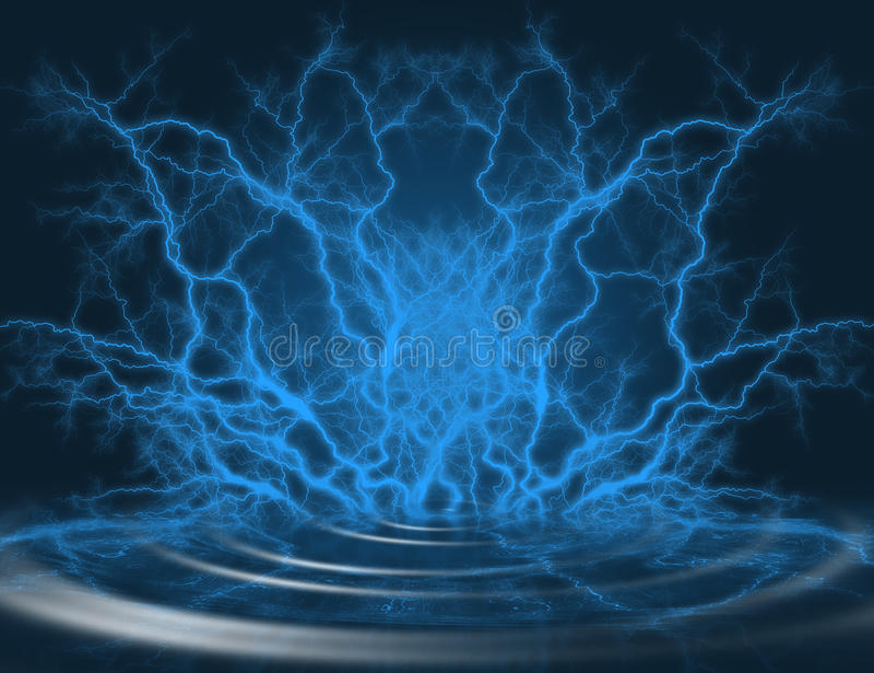 Lightning royalty free illustration