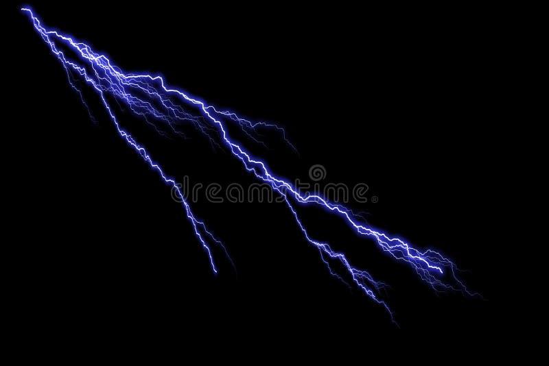Lightning. On the black background royalty free illustration
