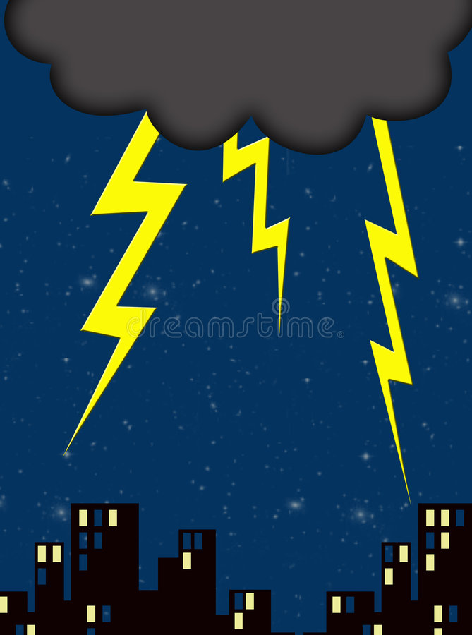 Download Lightning stock illustration. Illustration of stars, darkness - 1713737