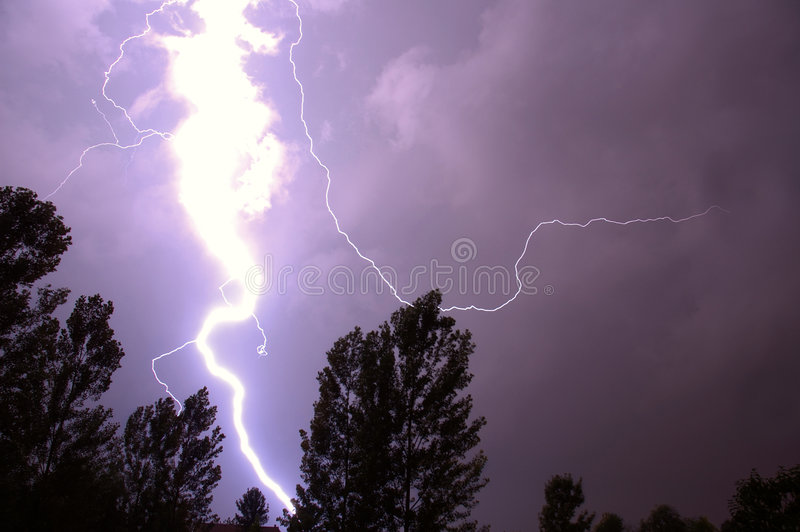 Download Lightning stock image. Image of electrical, trees, nature - 189457