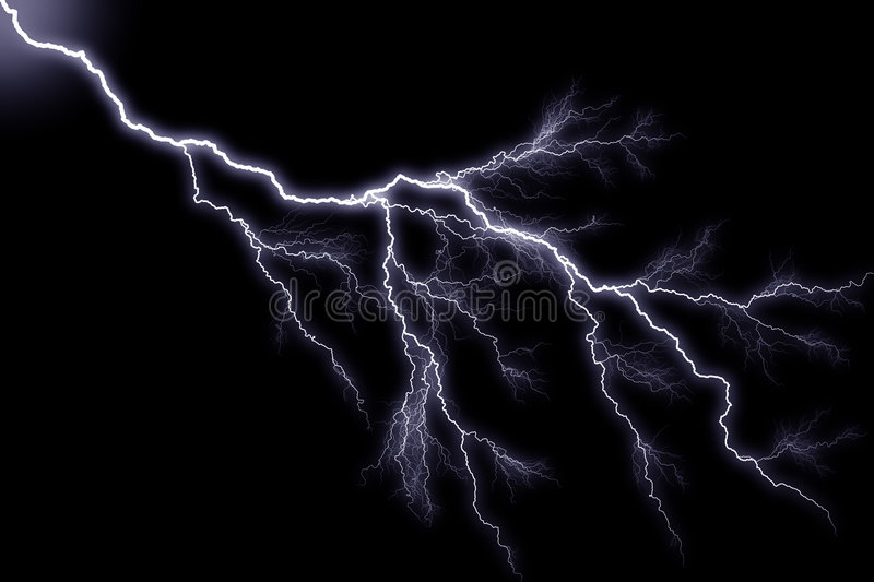 Lightning royalty free illustration