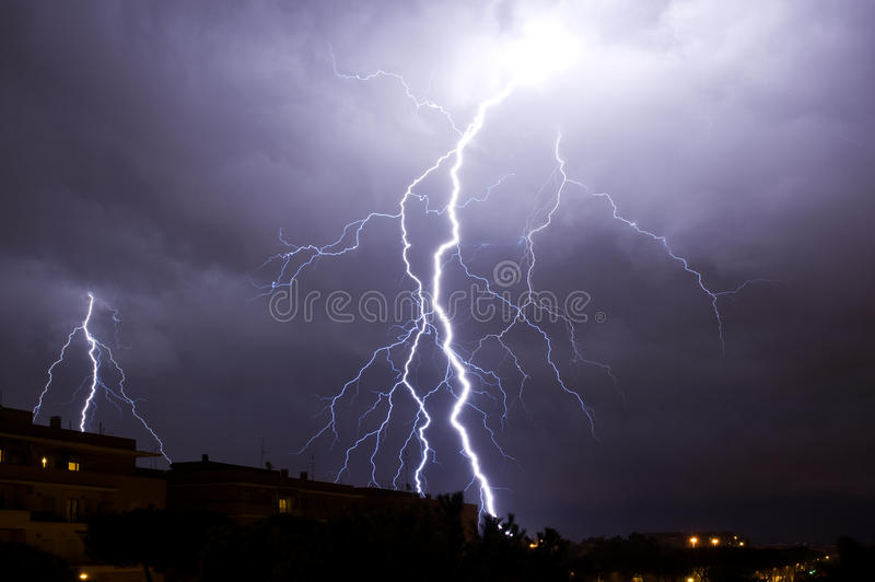 Download Lightning stock image. Image of power, magic, clouds - 27160319
