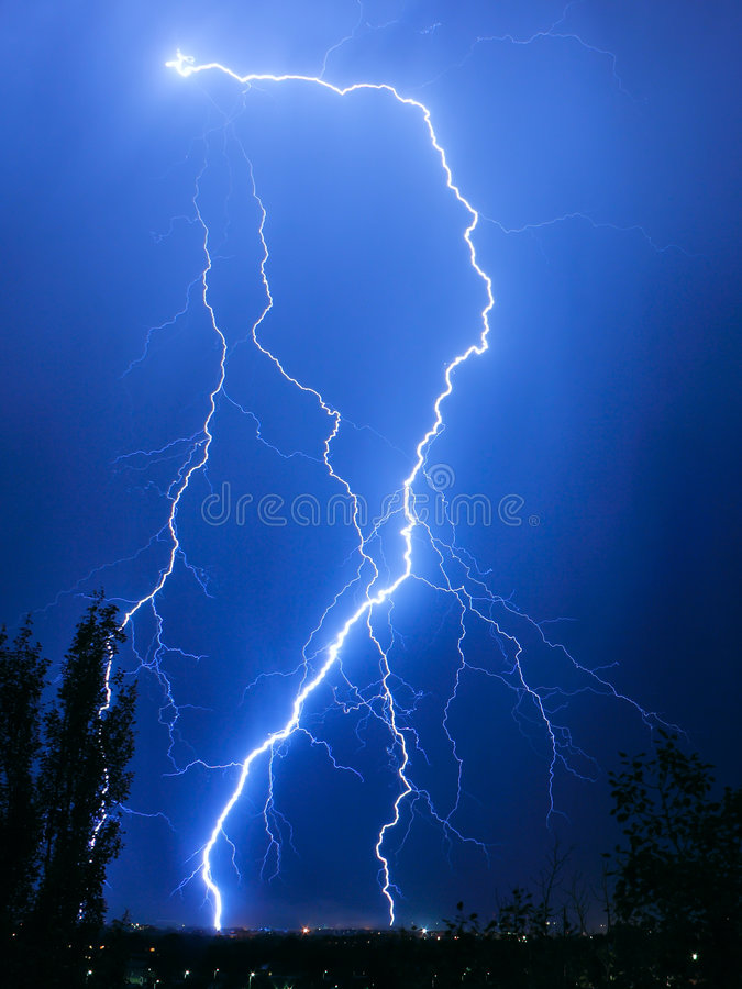 Download Lightning stock image. Image of power, lightning, charge - 7016497