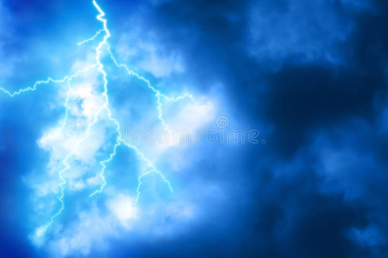 Lightning background at night royalty free stock image