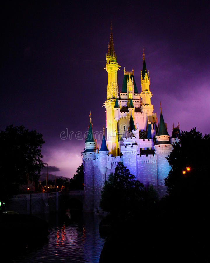 Download Lightning Behind The Magic Kingdom. Editorial Image - Image: 43153455