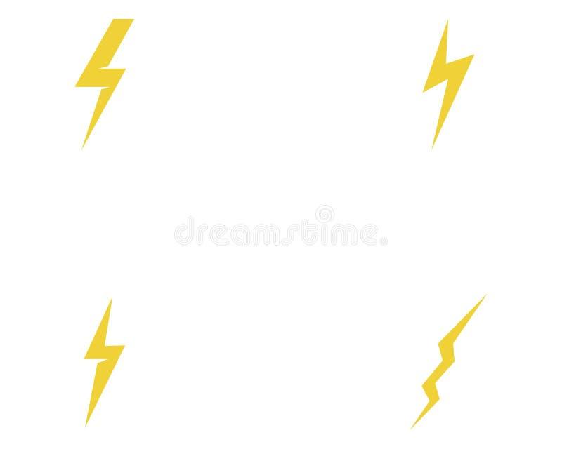 Lightning Bolt Flash Thunderbolt Icons Vector Stock