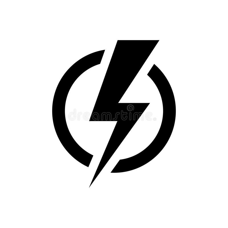 Free Lightning Bolt Icon. Electric Power Symbol Stock Photo - 118488680