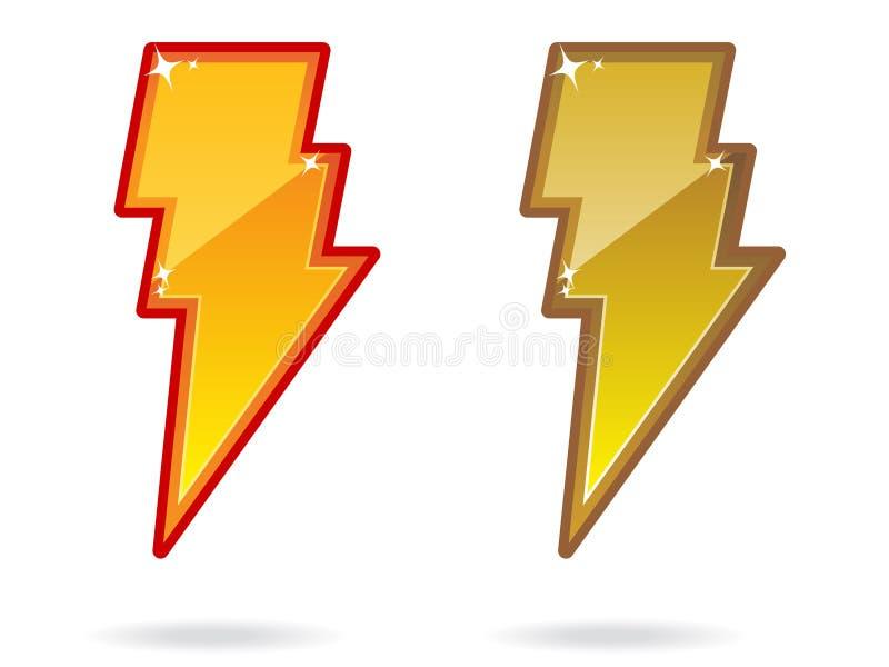 Download Lightning Bolt Icon EPS stock vector. Image of emblem - 16110012