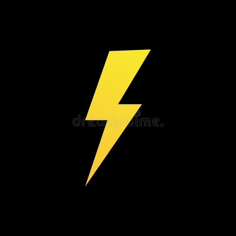 Lightning bolt icon or logo in modern flat style. vector illustration