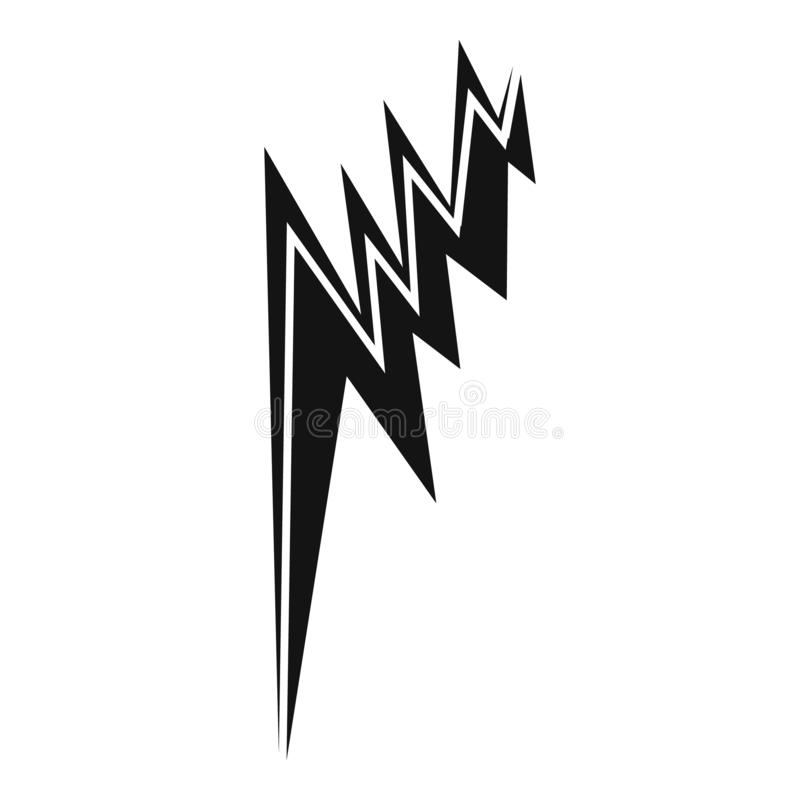 Simple Lightning Bolt Icon Stock Vector. Illustration Of
