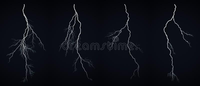 Lightning bolt. Isolated on black background