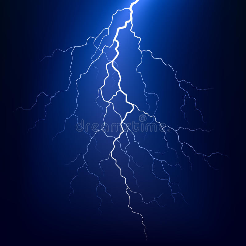 Download Lightning bolt at night stock vector. Image of cloud - 14721607