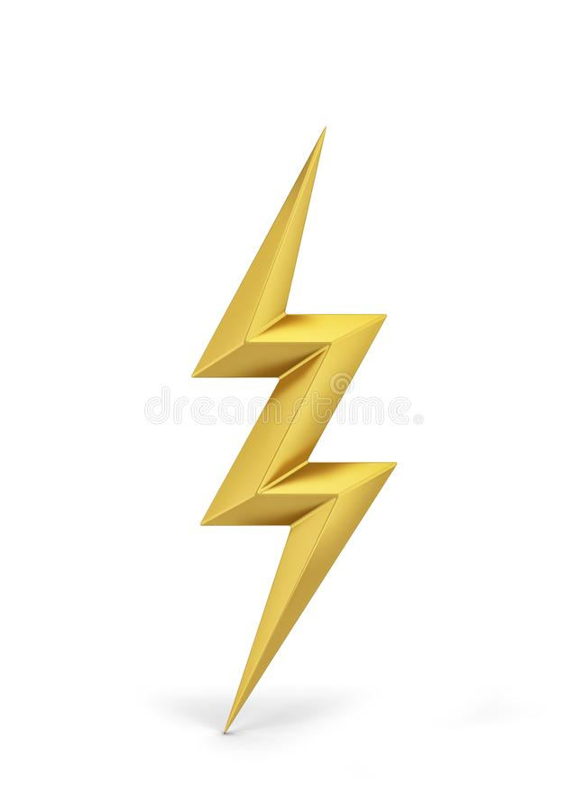 Lightning bolt symbol. 3d illustration isolated on white background royalty free illustration