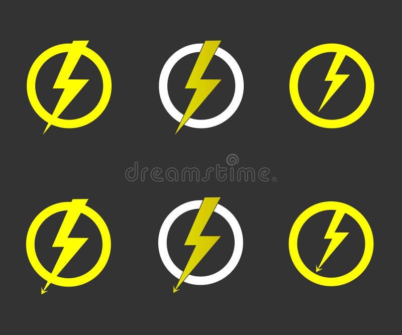 Lightning bolt vector vector illustration