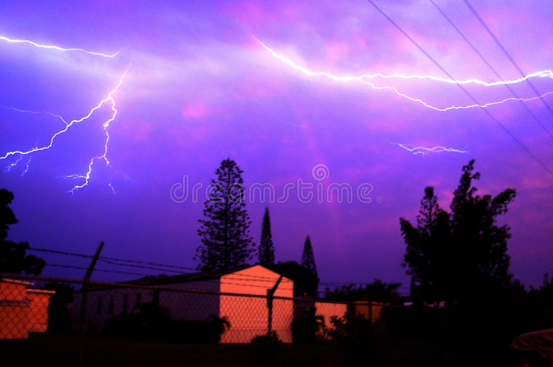 Lightning Bolts stock photo
