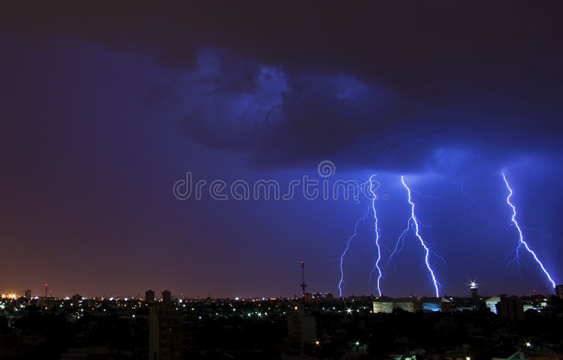 Lightning bolts royalty free stock images