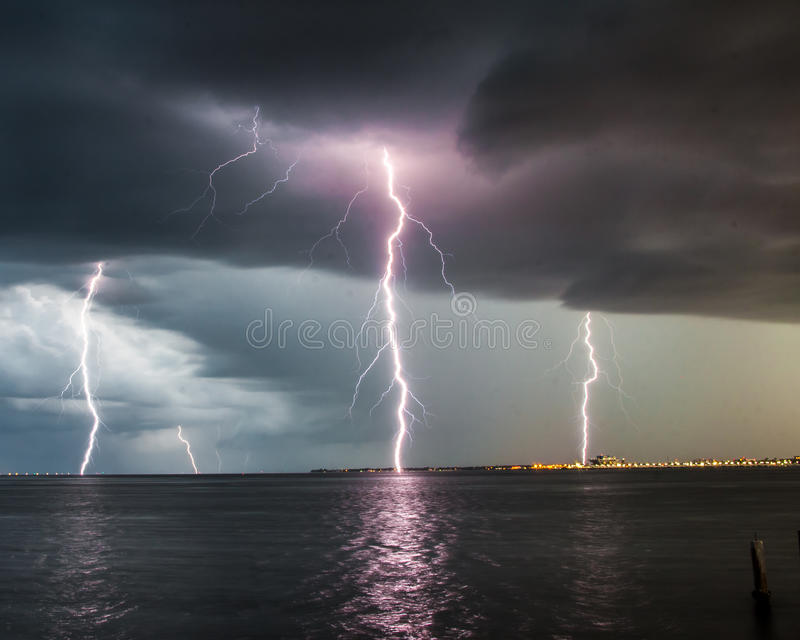 Lightning bolts royalty free stock image