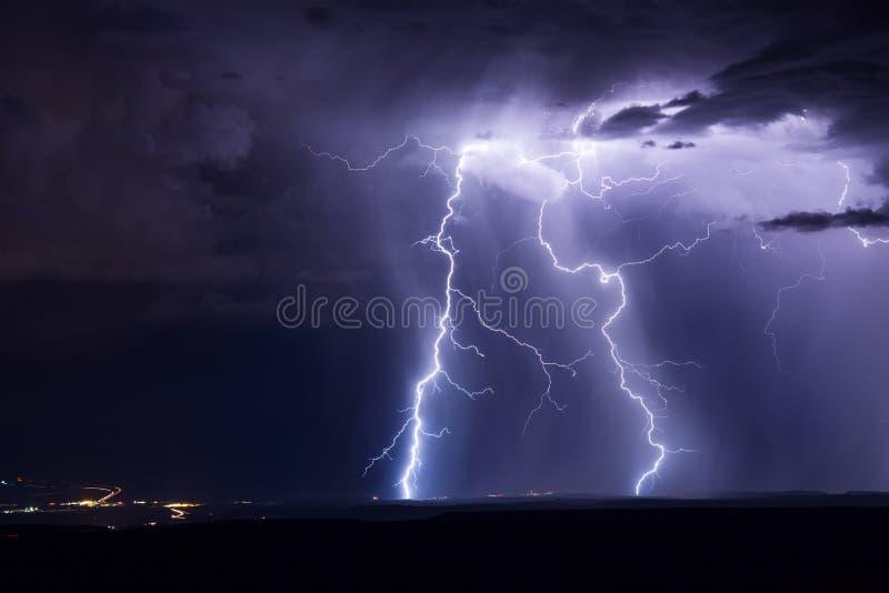 Lightning bolts royalty free stock photo