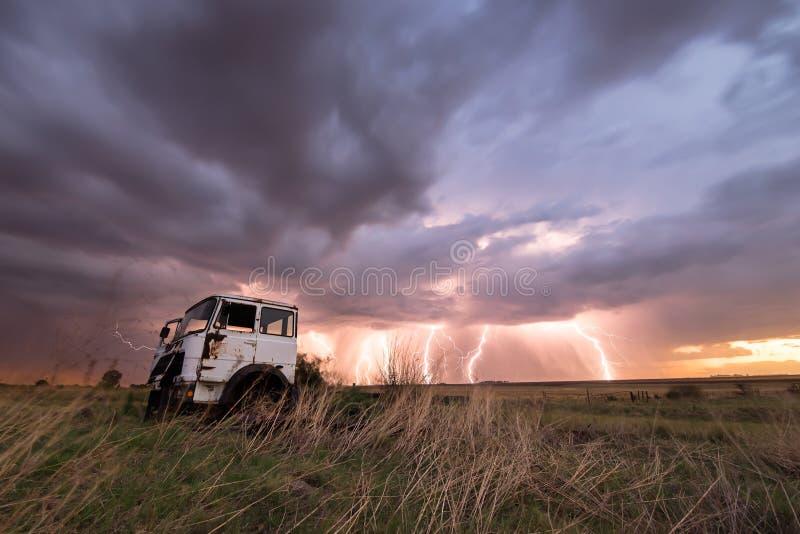 Lightning Cargo stock photography