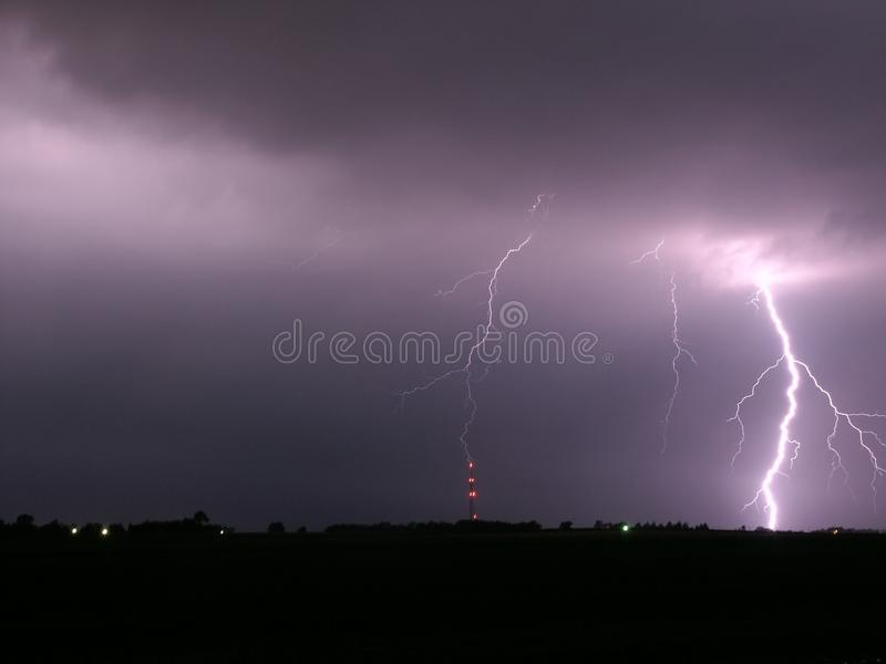 Download Lightning In Central Illinois Stock Image - Image: 16075741