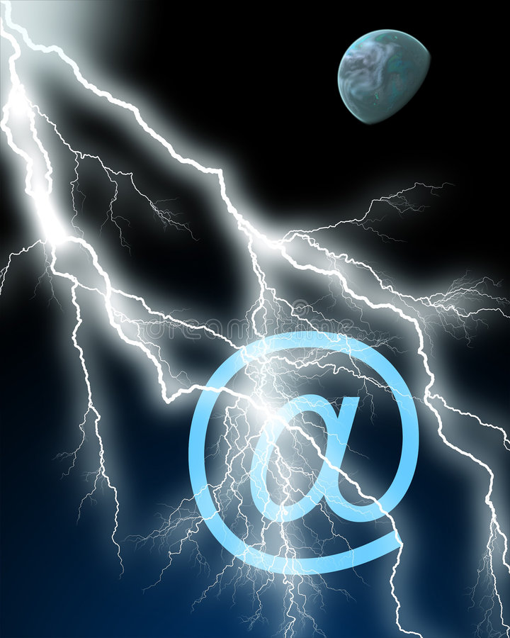 Lightning communications royalty free illustration