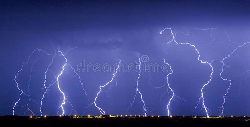Lightning Dance royalty free stock photo