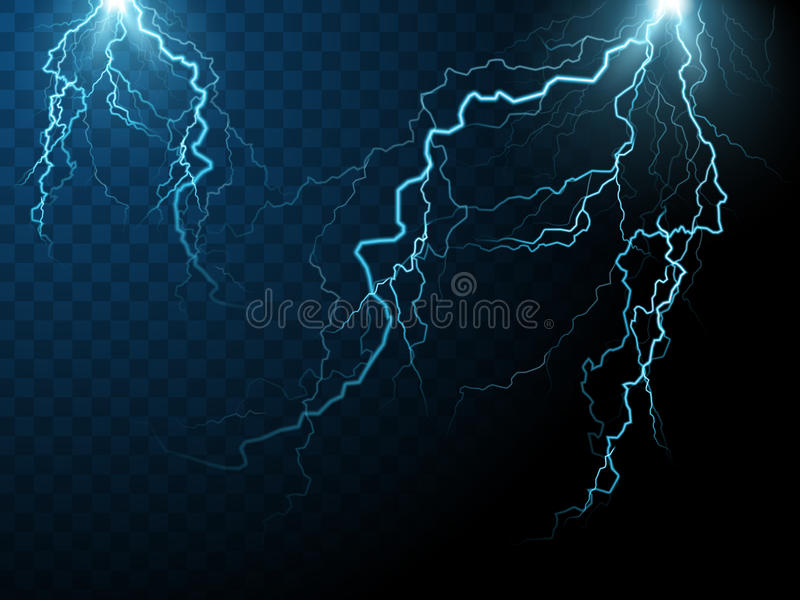 Lightning effect elements vector illustration